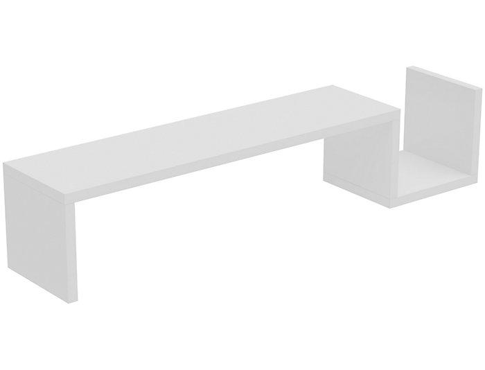 Zemmur White Floating Shelf, , large