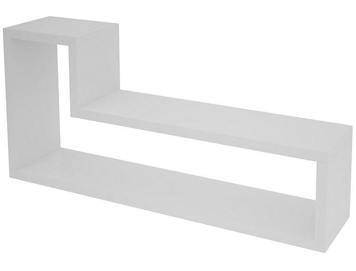 Barabs White Floating Shelf, , large