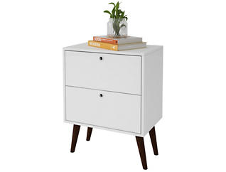 Taby White Nightstand, , large