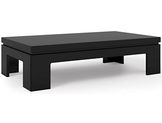 Modern Coffee Table, Black, , large