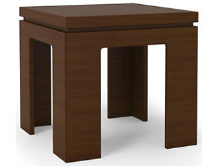 Modern Nut End Table, Brown, , large