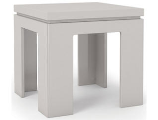 Modern End Table, Ivory, , large