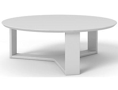 Round Coffee Table, White