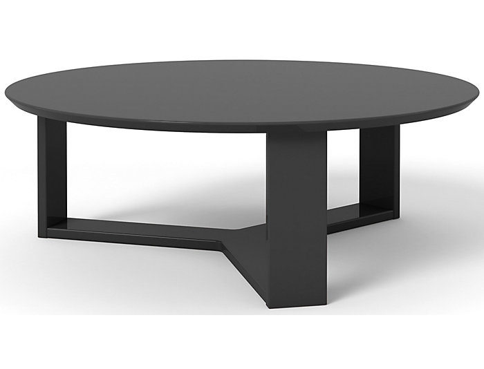Round Coffee Table, Black, , Large ...