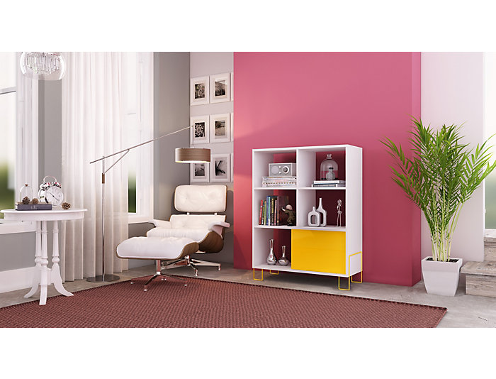 Boden Yellow Bookcase, , large