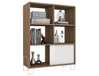 Boden White & Oak Bookcase, , large