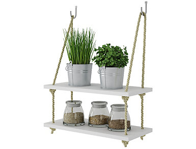 Paterson White Double Rope Shelf, , large