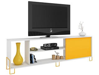 """Nacka 71"""" White TV Stand, , large"""