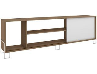 """Nacka 71"""" Oak TV Stand, White, large"""