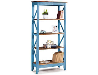 "Camden Blue 65"" Bookshelf, , large"