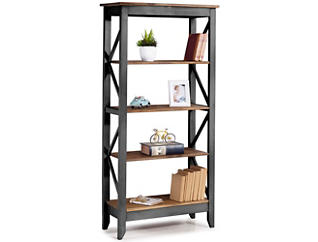 "Camden Black 65"" Bookshelf, , large"