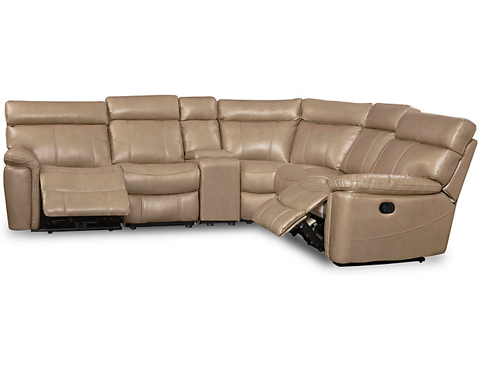 Bruno 7 Piece Reclining Sectional, Taupe, Taupe, large