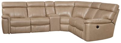 Bruno 6 Piece Power Sectional, Taupe, swatch
