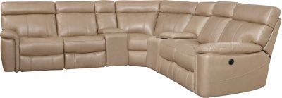 Bruno 7 Piece Power Sectional, Taupe, swatch