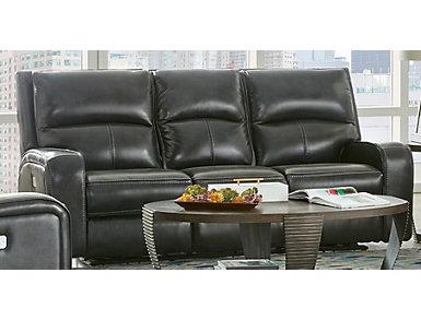 Derek Dual Power Leather Sofa, , large