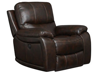 Darby Power Recliner, Brown, , large