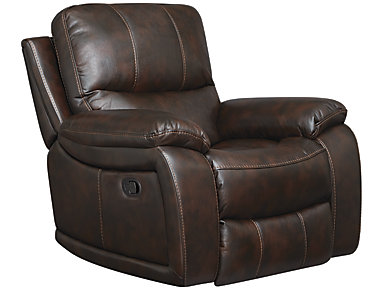 Darby Glider Recliner, Brown, , large