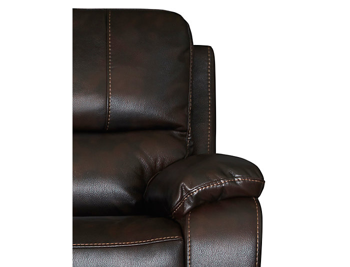 Darby Power Reclining Loveseat, Brown, , large