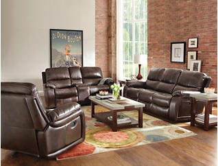 Darby Glide Reclining Console Loveseat, , large