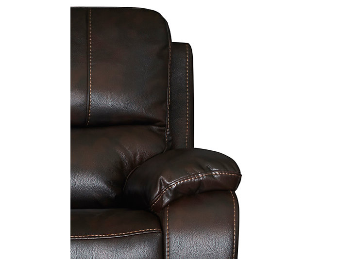 Darby Reclining Loveseat, Brown, , large