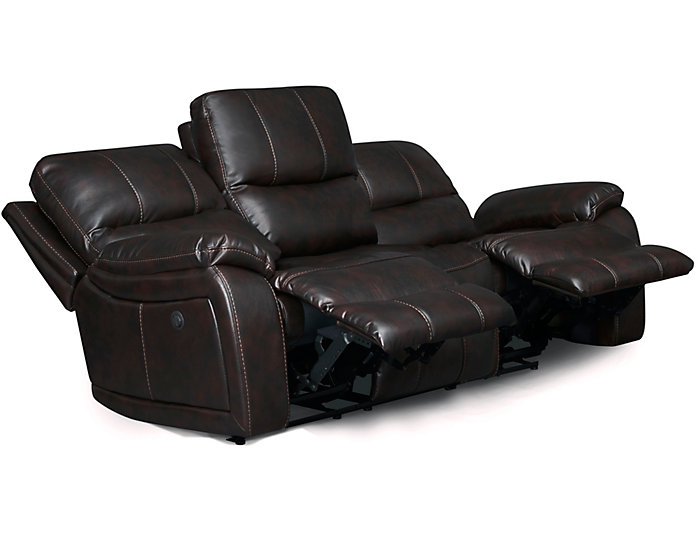 Darby Power Reclining Sofa, Brown, , large