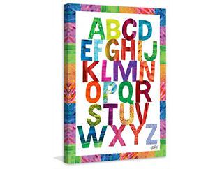 Alphabet 45x30 Canvas Art, , large