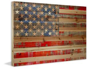 American Dream 12x18 Wood Art, , large