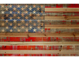 "American Dream 16"" x 24"" Wood Art, , large"