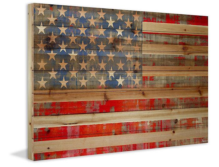 American Dream 30x45 Wood Art, , large