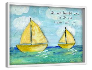 At Sea 16X24 Canvas Art, , large