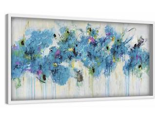 Blue Florals 15x45 Canvas Art, , large