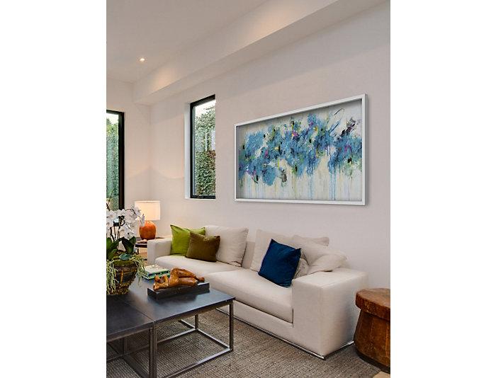 Blue Florals 20x60 Canvas Art, , large