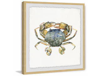 Blue Crab 18x18 Framed Art, , large