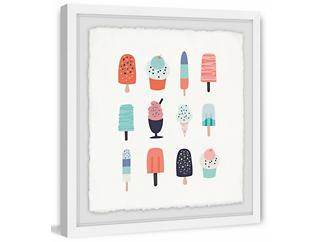 Ice Cream 48x48 Framed Art, , large