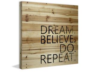 Dream, Believe 18x18 Wood Art, , large