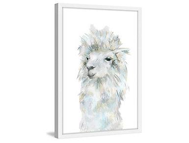 Fluffy Llama 45x30 Framed Art, , large