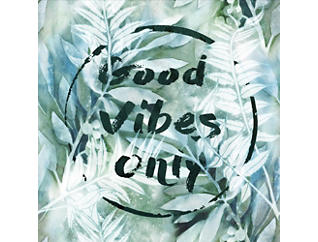 "Good Vibes 18"" x 18"" Canvas Art, , large"