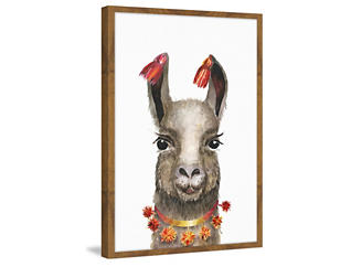 Hawaiian Llama 18x12 Frame Art, , large