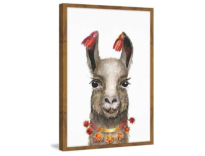 Hawaiian Llama 24x16 Frame Art, , large