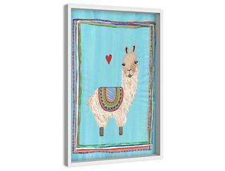 Llama Heart 18x12 Canvas Art, , large