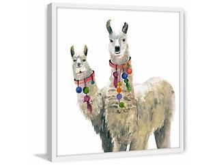 Llamas 40x40 Framed Art, , large