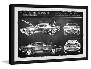 1969 Mustang 30x45 Framed Art, , large