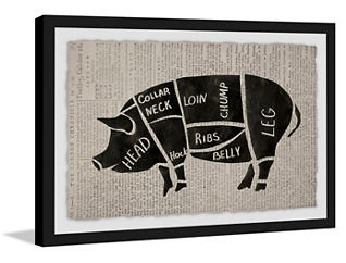 Pork Cuts 20x30 Framed Art, , large