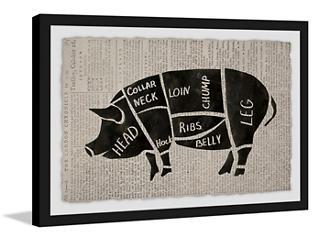 Pork Cuts 24x36 Framed Art, , large