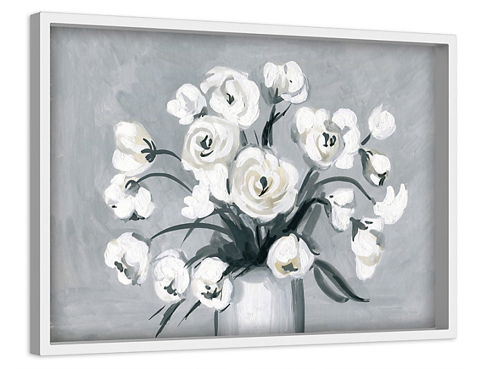 Spring White 24 X 36 Canvas Art Van