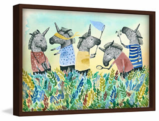 Unicorn Squad 20x30 Canvas Art, , large