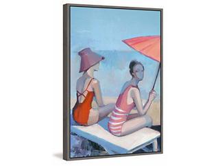 Sunbathing 30x20 Canvas Art, , large
