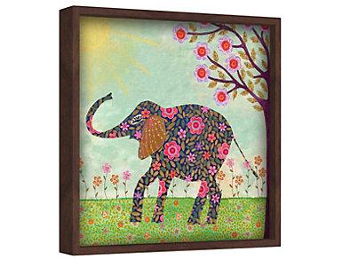 Eli Elephant 48x48 Canvas Art, , large