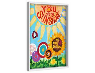 Only Sunshine 45x30 Canvas Art, , large
