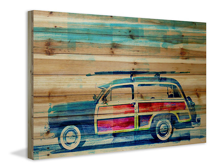 Surf Day 24x36 Wood Art, , large
